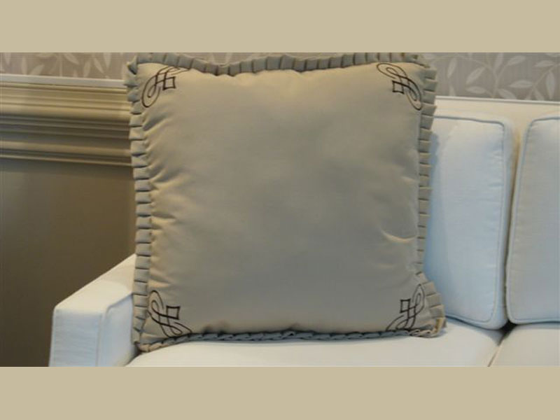 Monogrammed Throw Pillow with Edge Details
